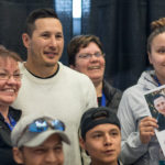 Jordin Tootoo posing with fans